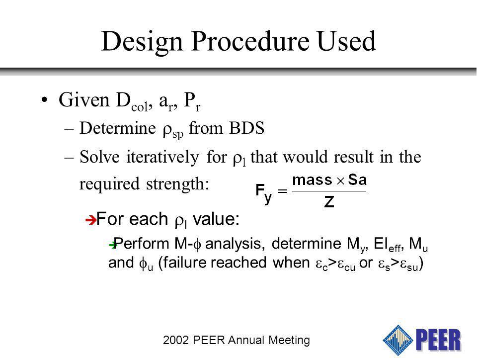 2002 PEER Annual Meeting Column Design according to ARS