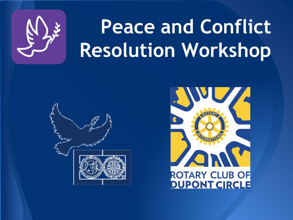 Peace and Conflict Resolution Workshop