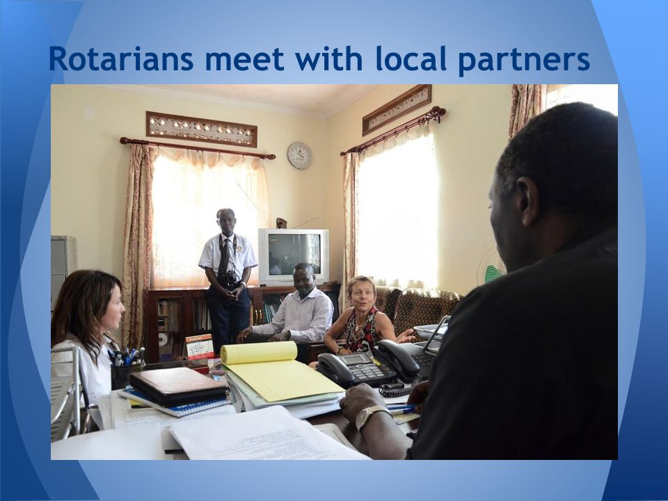 Rotarians meet with local partners