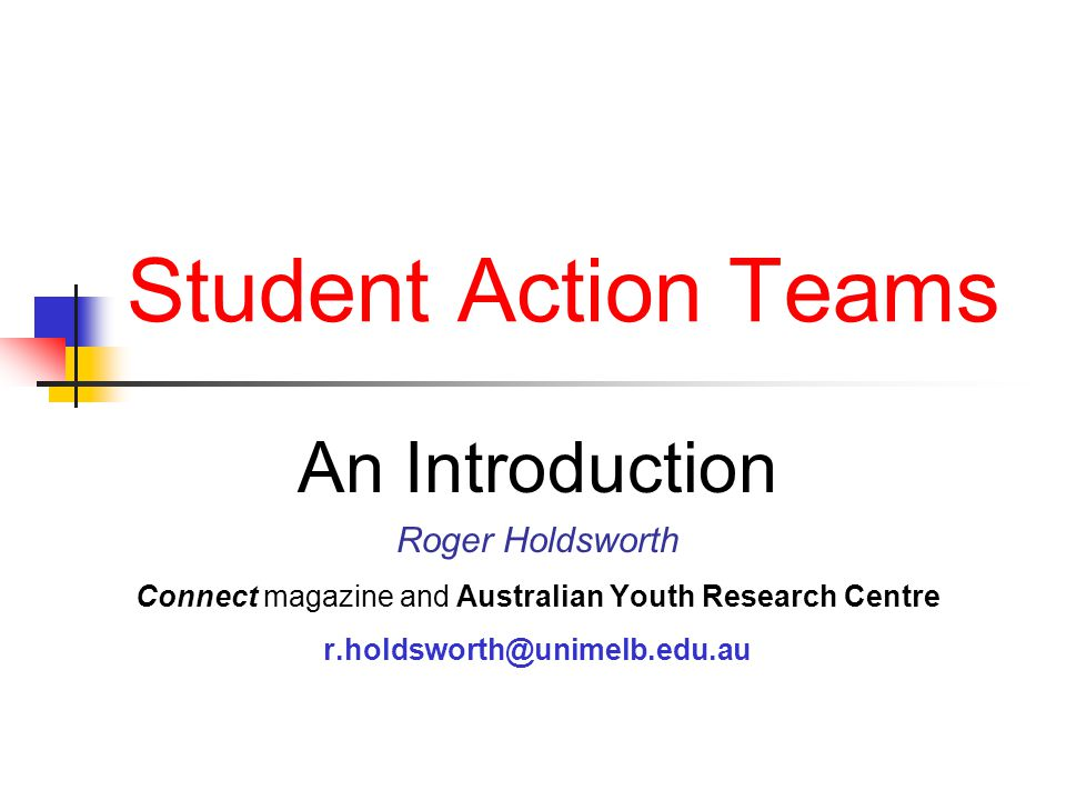 Student Action Teams 11 Development of strong self-concept control bonding meaning Sense of control: capability, competence, impact on ones own environment, power over ones self, use of social/life skills, power to change ones self and environment Sense of bonding: with family/peers/community, to feel/be wanted, to feel/be loved, to belong, to have basic needs met Sense of meaning: to feel important, to feel relevant, self-esteem, sense of dignity/honour, able to accomplish tasks After Nancy Phillips, 1990