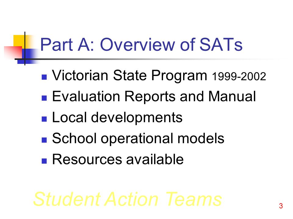 Student Action Teams 23 In a Student Action Team: Students: Decide on and own the issue; Research and propose solutions; Act on their research/proposals; Reflect on what they have learnt.