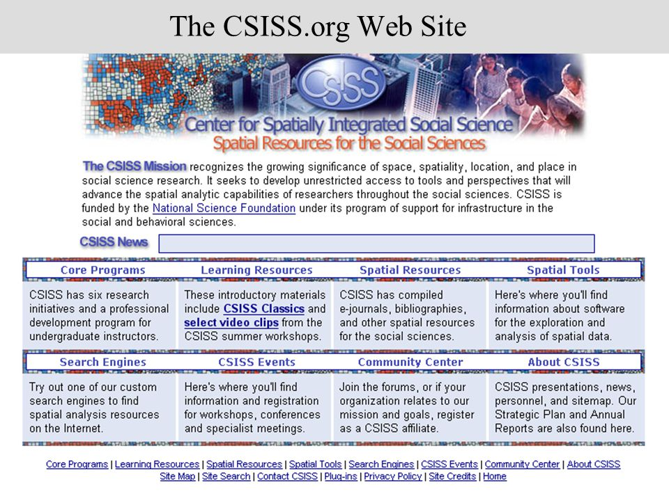 The CSISS.org Web Site