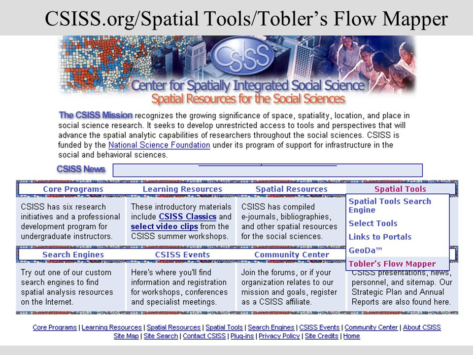 CSISS.org/Spatial Tools/Toblers Flow Mapper