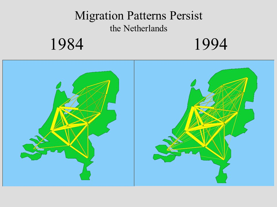 Migration Patterns Persist the Netherlands 1984 1994