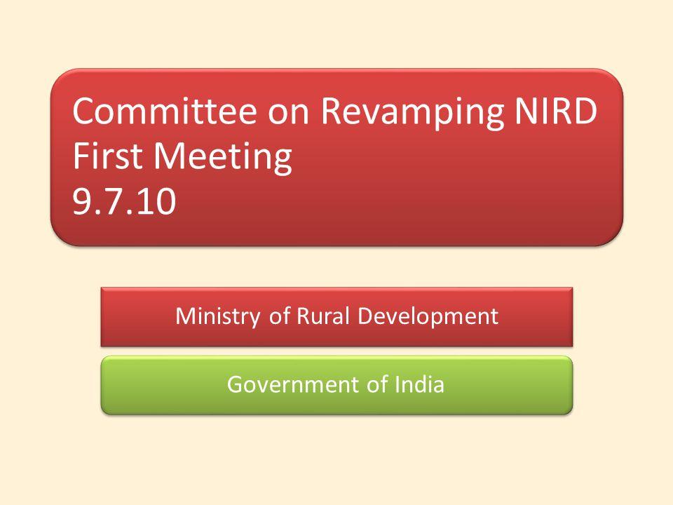 NIRD Revamping Committee Members 1.Dr.Yoginder. K.