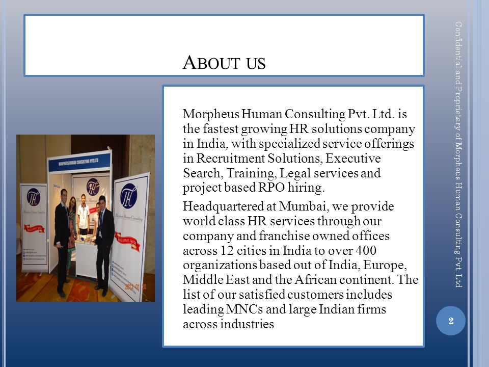 O UR V ISION … We build your assets through human capital.