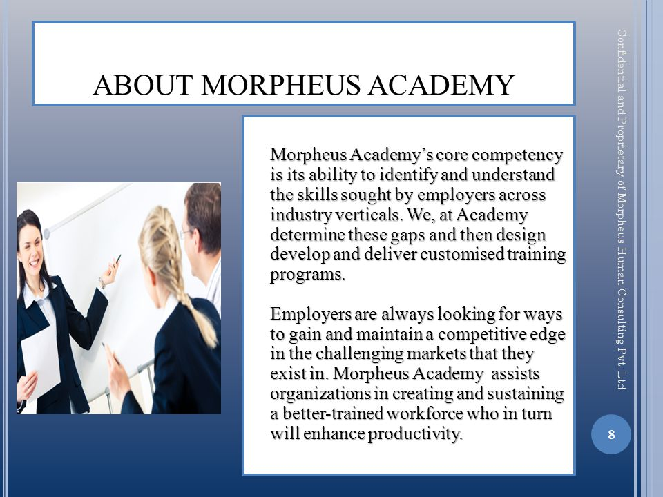 19 Confidential and Proprietary of Morpheus Human Consulting Pvt. Ltd