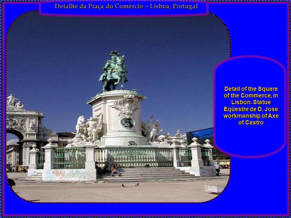 Detalhe da Praça do Comércio – Lisboa, Portugal Detail of the Square of the Commerce, in Lisbon.