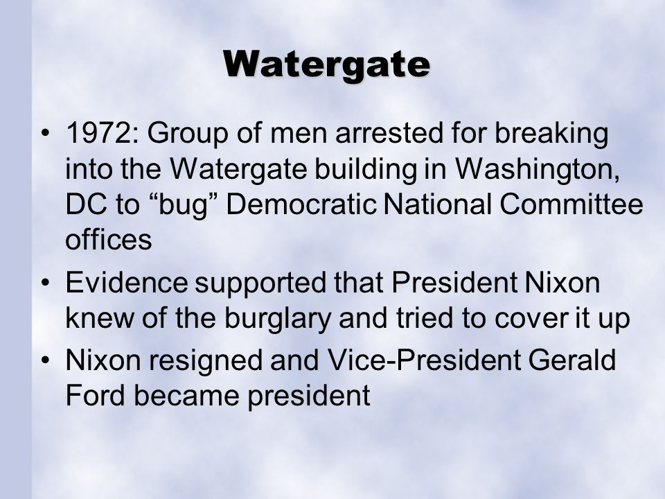 Watergate 1972: Group of men arrested for breaking into the Watergate building in Washington, DC to bug Democratic National Committee offices Evidence