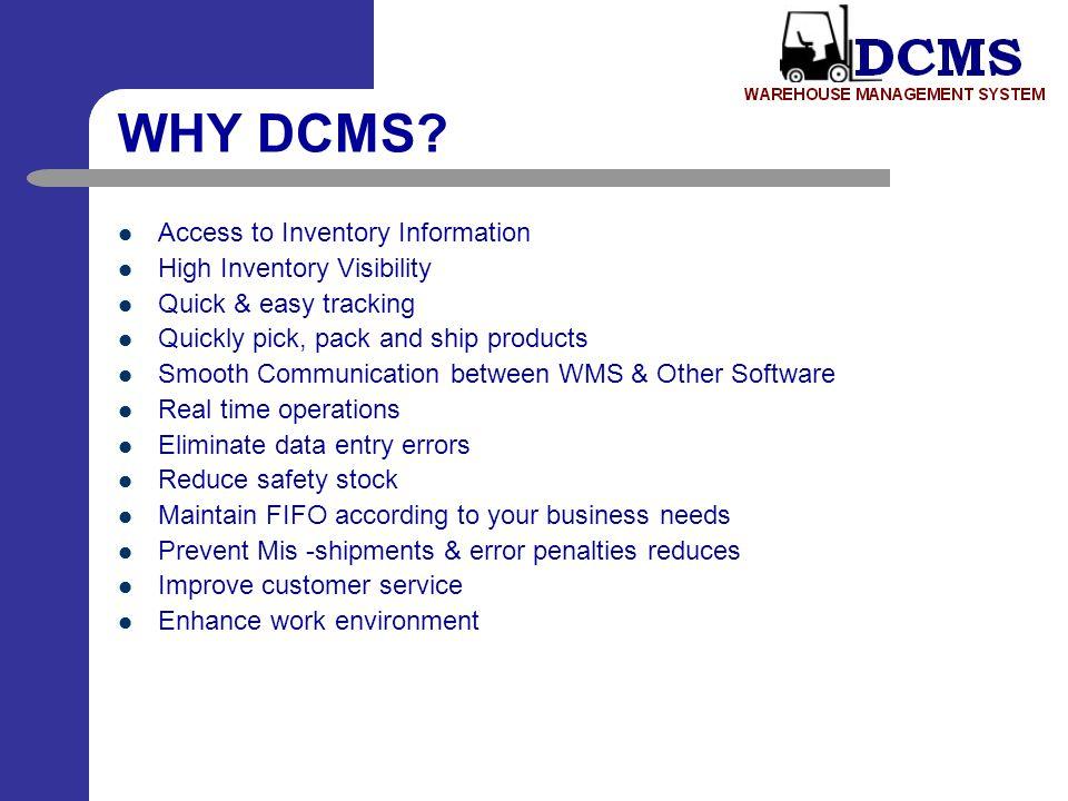 DCMS Process Flow Diagram