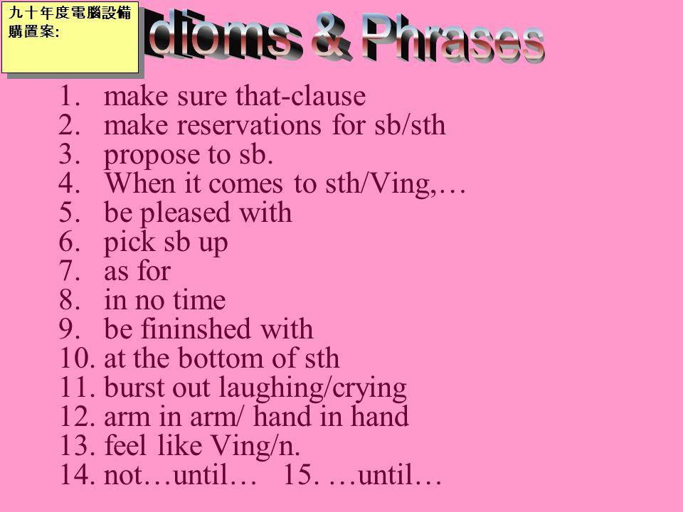 11.burst out laughing/crying Hearing the joke, everyone burst out laughing/burst into laughter.