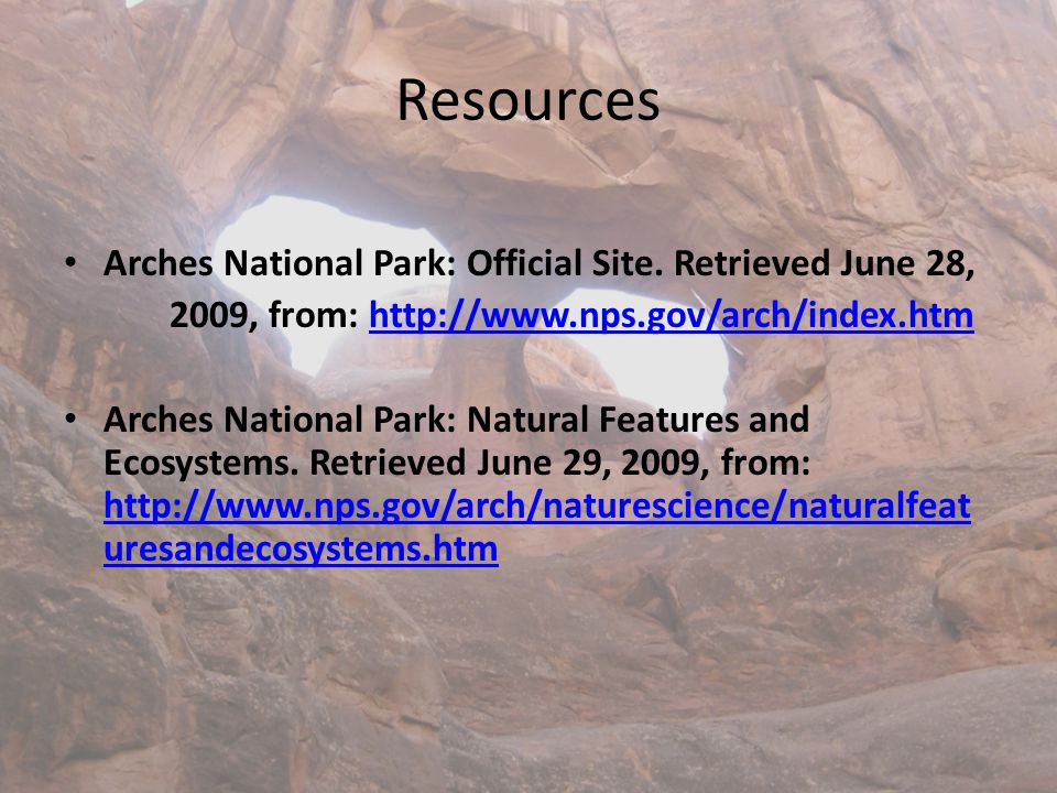 Resources Arches National Park: Official Site.