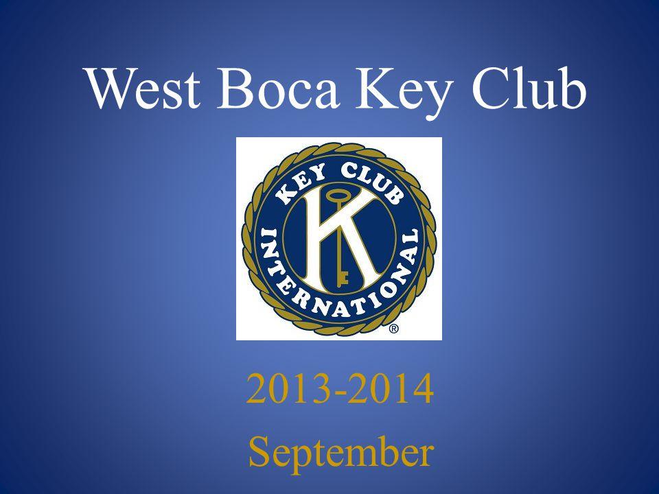 West Boca Key Club 2013-2014 September