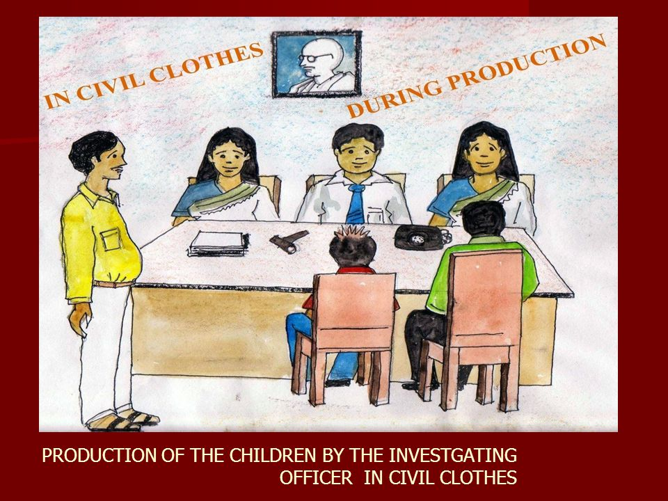 PRODUCTION OF THE CHILDREN BY THE INVESTGATING OFFICER IN CIVIL CLOTHES