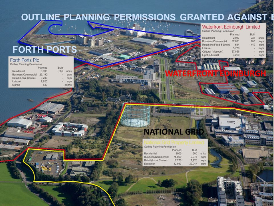 OUTLINE PLANNING PERMISSIONS GRANTED AGAINST BUILT FORTH PORTS WATERFRONT EDINBURGH NATIONAL GRID