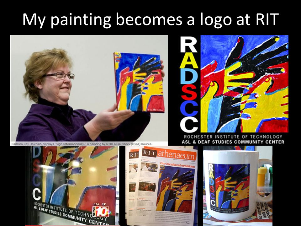 My painting becomes a logo at RIT