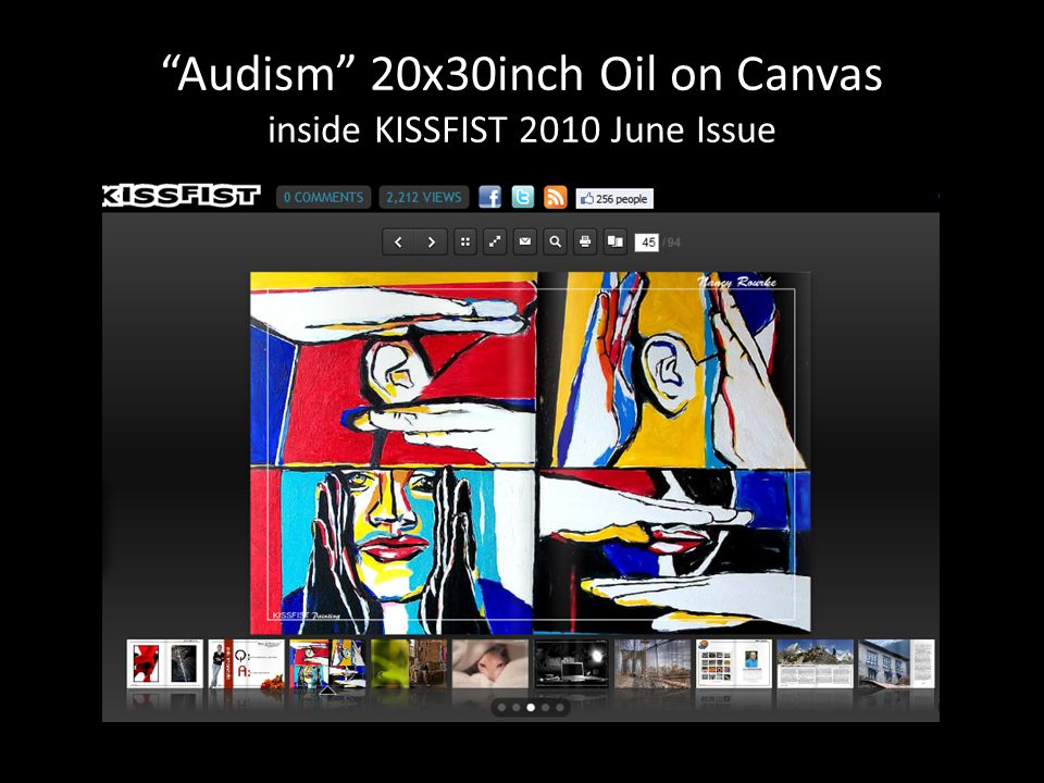 Audism 20x30inch Oil on Canvas inside KISSFIST 2010 June Issue