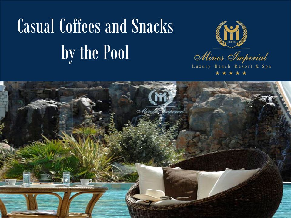 Casual Coffees and Snacks by the Pool