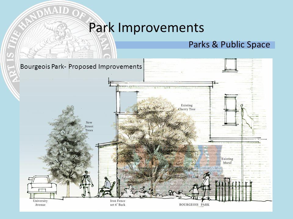 Parks & Public Space Bourgeois Park- Proposed Improvements Park Improvements