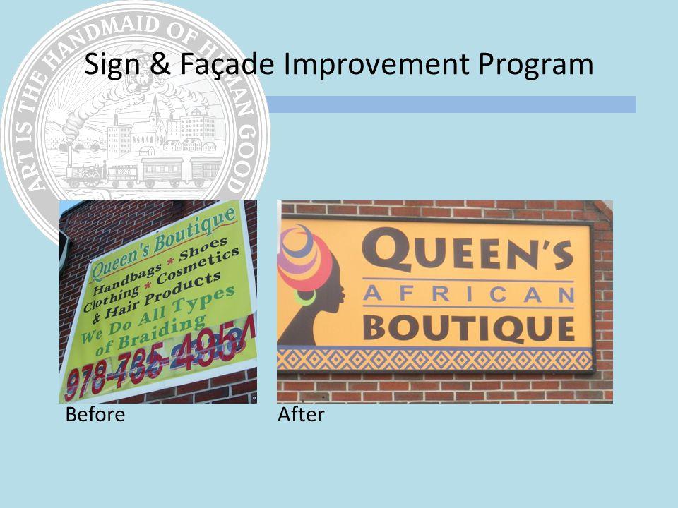 Sign & Façade Improvement Program Before After