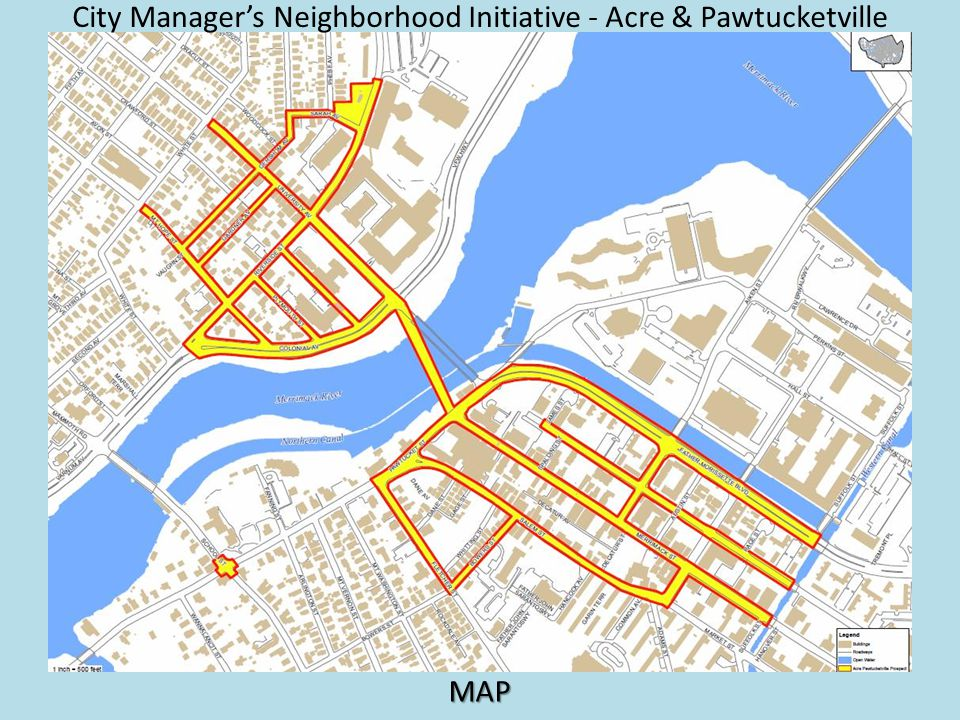 City Managers Neighborhood Initiative - Acre & Pawtucketville MAP
