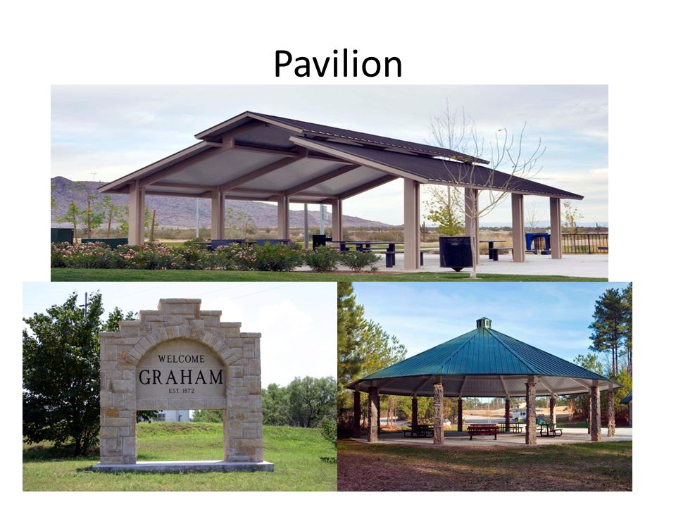 Restrooms First Class, Low Maintenance, Match Architecture to Pavilion Similar to Restrooms on Square Meet ADA requirements 1 large facility near Pavilion, 2 small at each end of main trail- Shawnee Springs and Firemens Park