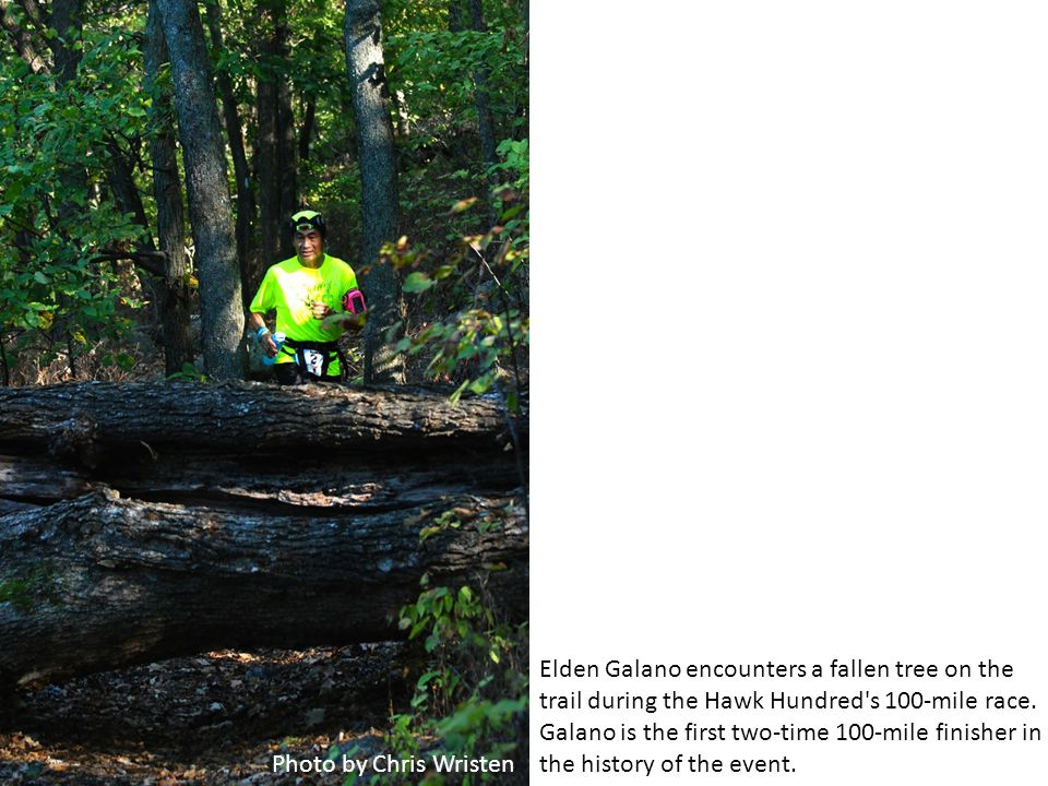 Photo by Chris Wristen Lawrence resident Jeff Triplett competes in his first marathon during the Hawk Hundred s marathon race Saturday at Clinton Lake State Park.