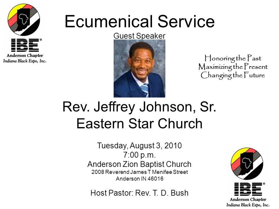 Ecumenical Service Guest Speaker Rev. Jeffrey Johnson, Sr.