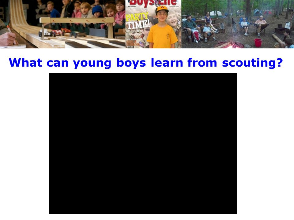What can young boys learn from scouting?