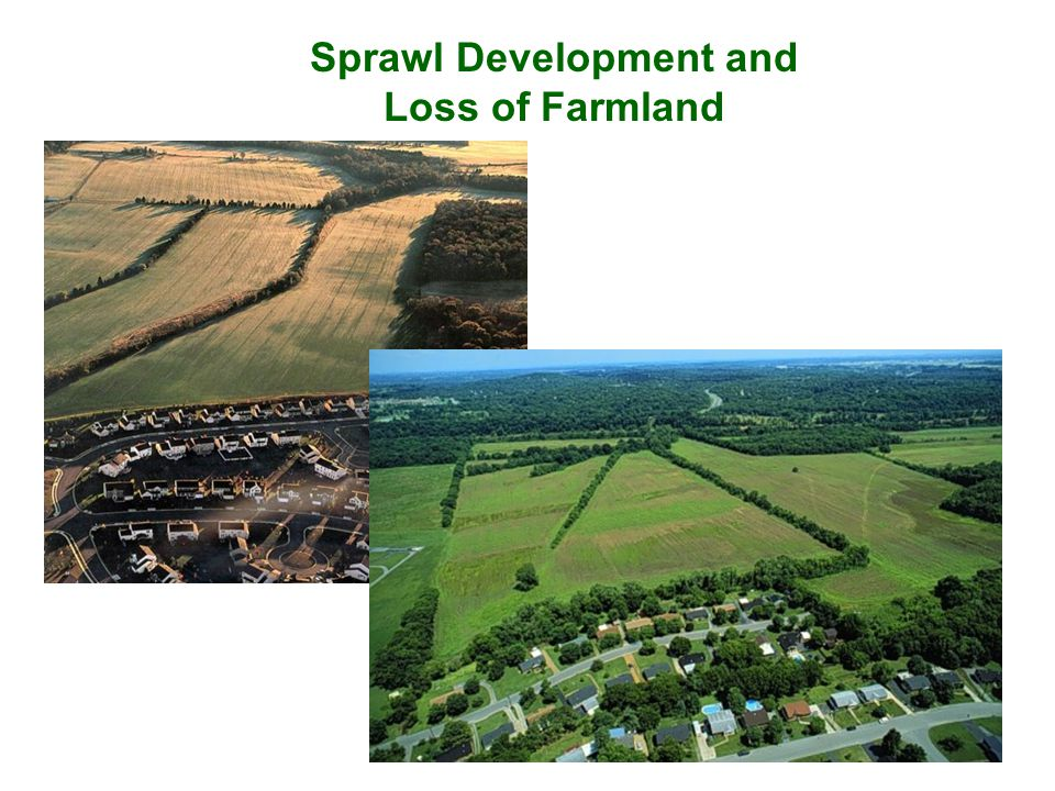 Sprawl Development and Loss of Farmland