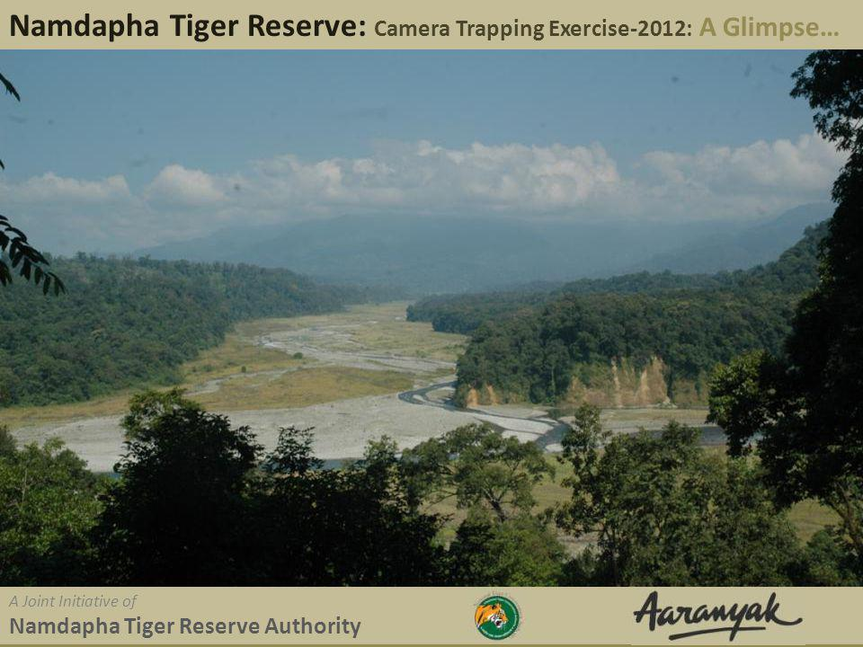 Namdapha Tiger Reserve: Camera Trapping Exercise-2012: A Glimpse A Joint Initiative of Namdapha Tiger Reserve Authority Background Namdapha TR, believed to be unexplored; only a small part of the rugged park is explored by staff and researcher.