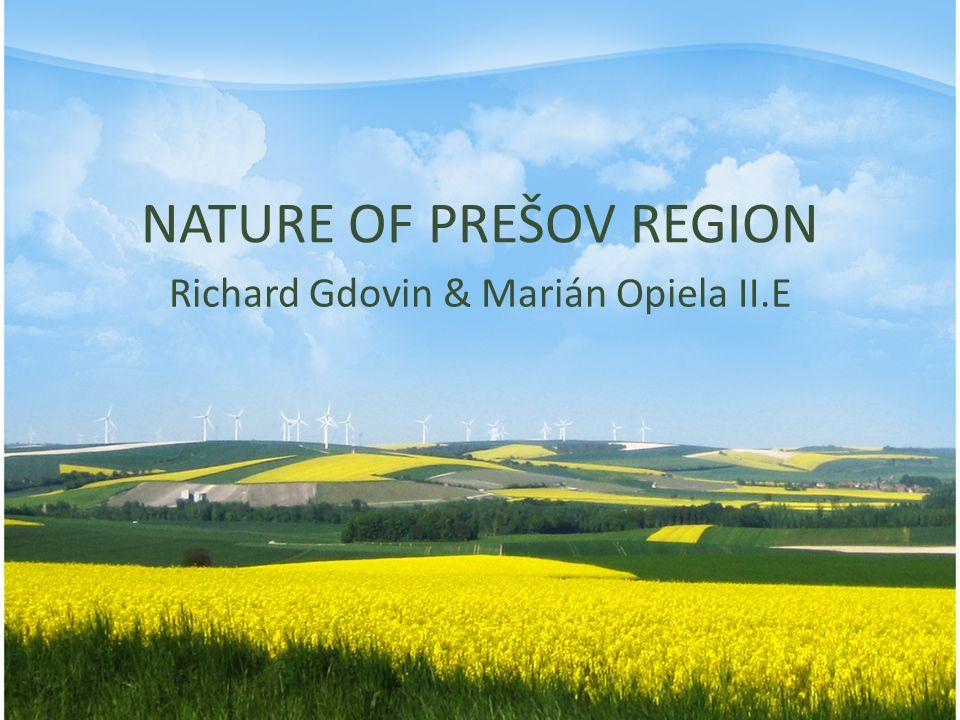 NATURE OF PREŠOV REGION Richard Gdovin & Marián Opiela II.E