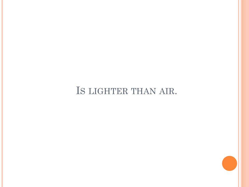 I S LIGHTER THAN AIR.
