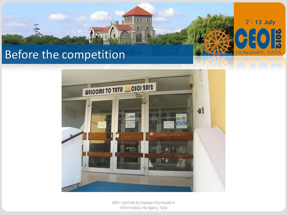 The park 19th Central-European Olympiad in Informatics, Hungary, Tata