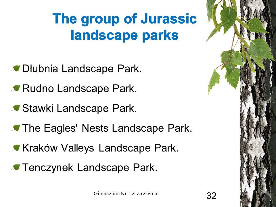 Dłubnia Landscape Park. Rudno Landscape Park. Stawki Landscape Park. The Eagles' Nests Landscape Park. Kraków Valleys Landscape Park. Tenczynek Landsc