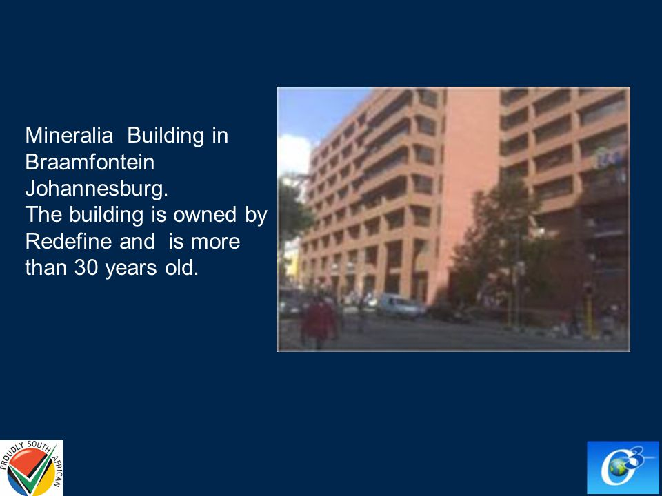 Mineralia Building in Braamfontein Johannesburg. The building is owned by Redefine and is more than 30 years old.
