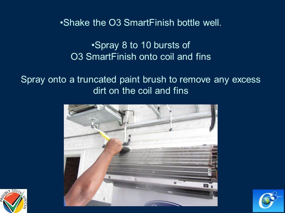 Shake the O3 SmartFinish bottle well.