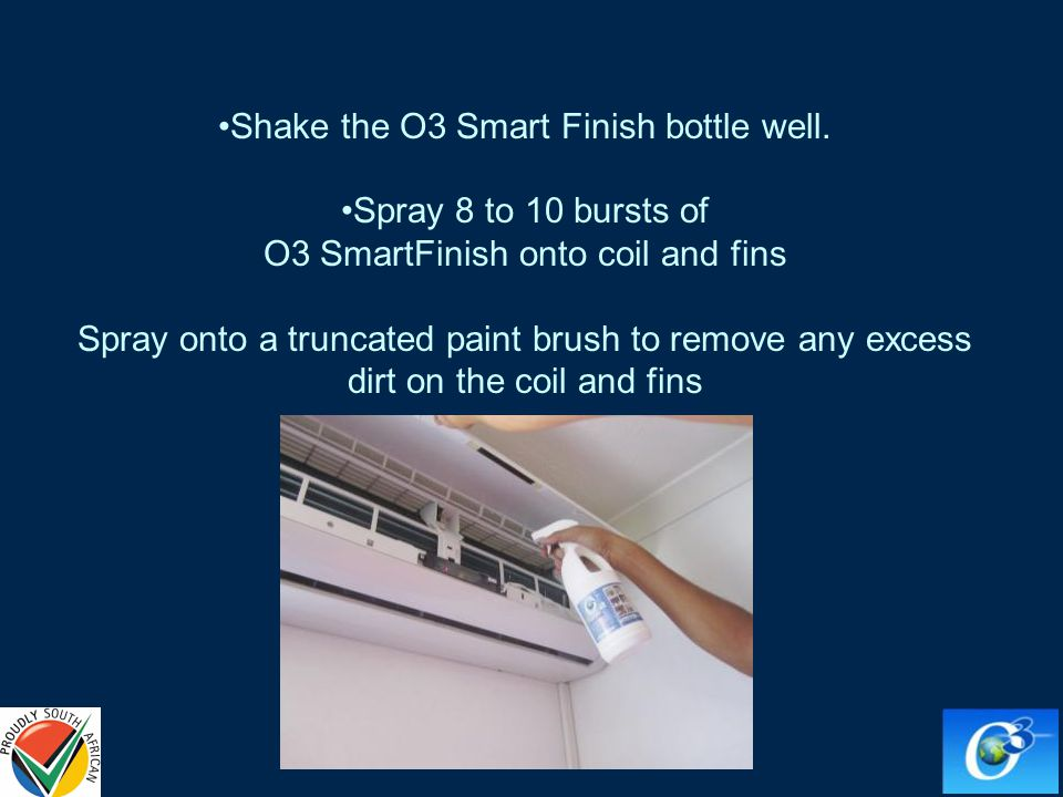 Shake the O3 Smart Finish bottle well.