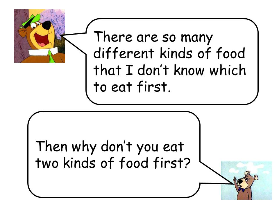 There are so many different kinds of food that I dont know which to eat first.