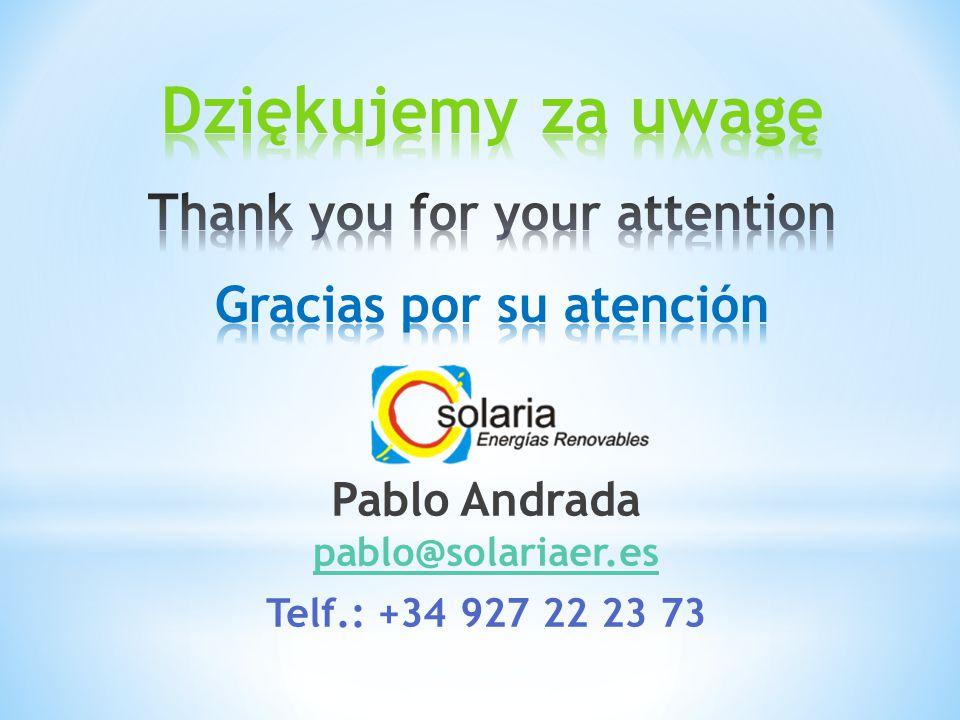 Pablo Andrada pablo@solariaer.es pablo@solariaer.es Telf.: +34 927 22 23 73