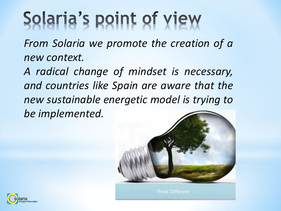 From Solaria we promote the creation of a new context.