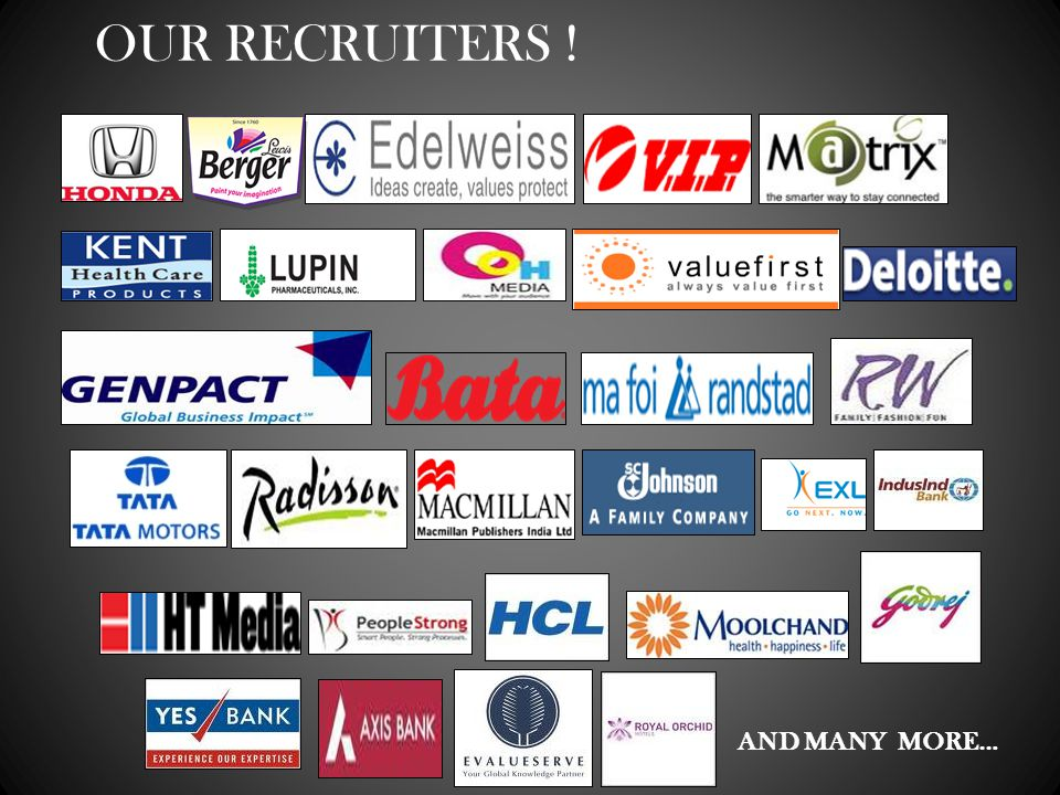 AND MANY MORE… OUR RECRUITERS !