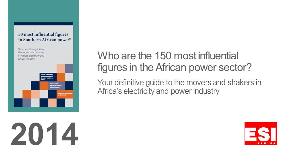 Who are the 150 most influential figures in the African power sector.