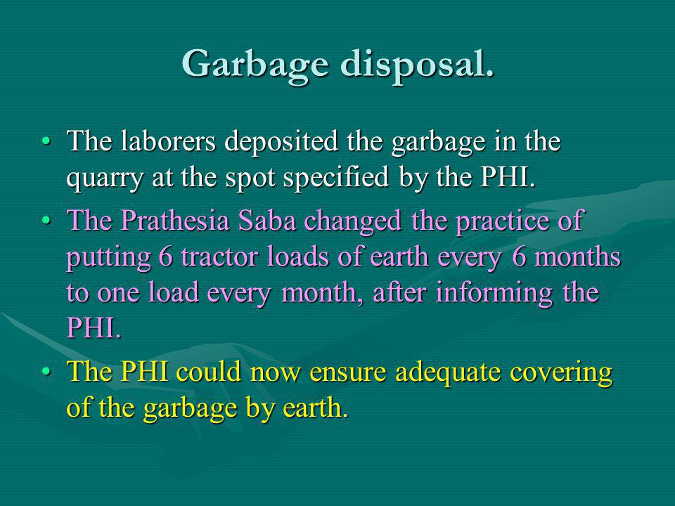 Garbage disposal.