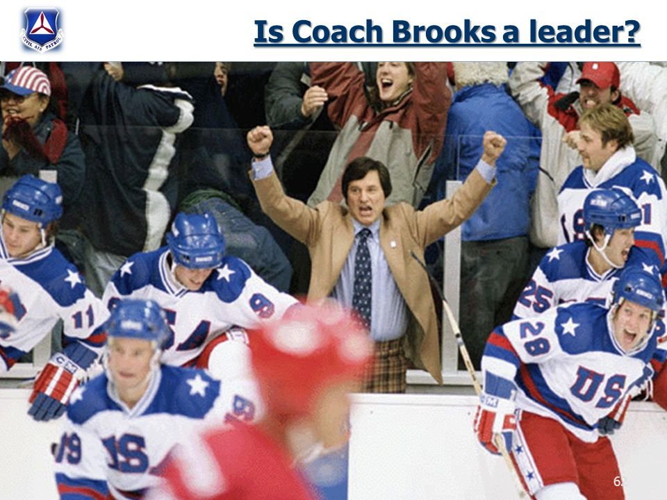 Is Coach Brooks a leader? 62