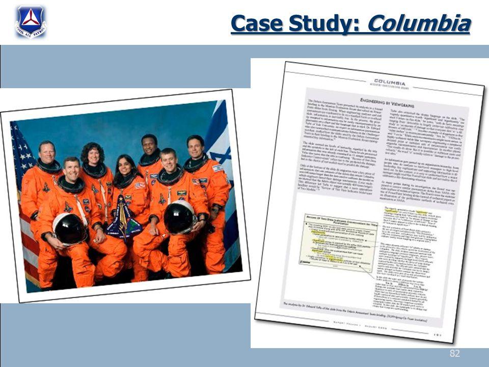 Case Study: Columbia 82