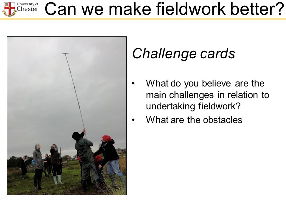 Can we make fieldwork better.