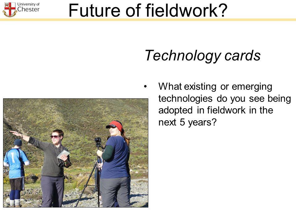 Future of fieldwork.