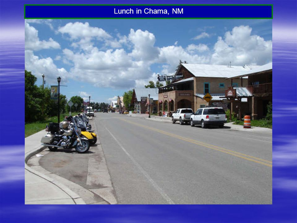Lunch in Chama, NM