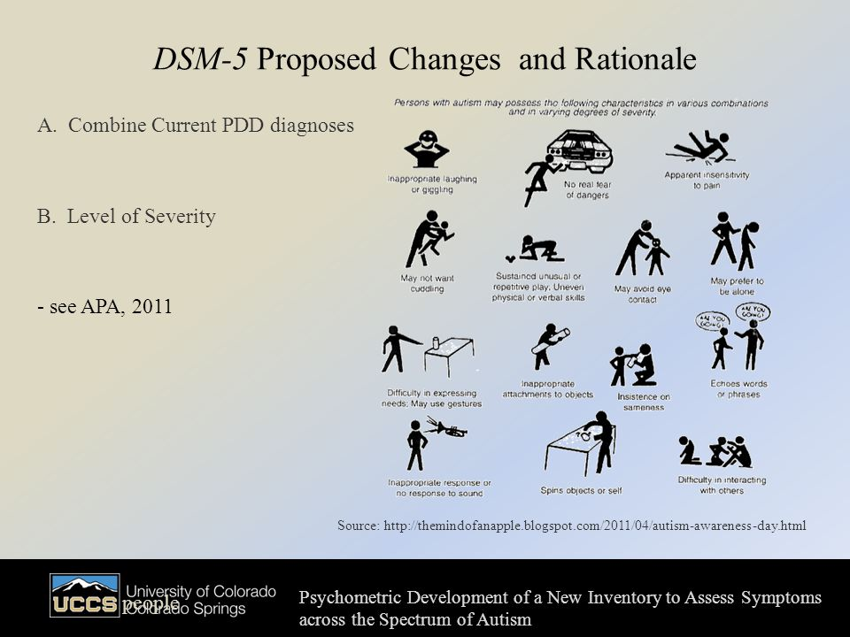 DSM-5 Proposed Changes and Rationale A. Combine Current PDD diagnoses B.